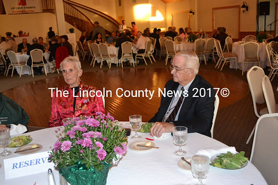 Lincoln County Board of Commissioners Chairman William Blodgett with his wife, Carol Blodgett, at the conference dinner. (Kim Fletcher photo)