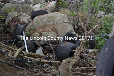 Tires and debris to be a part of Saturday's volunteer cleanup at Wiscasset Speedway. (D. Lobkowicz photo)
