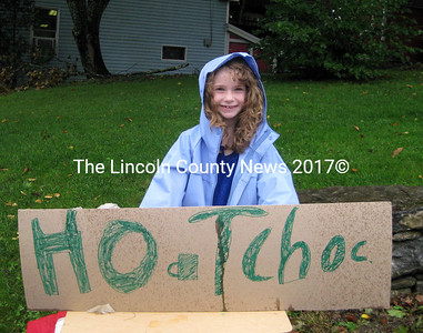 Young entrepreneur Taylor Fink, 8, sold hot chocolate  at the Bristol  Mills Fall Festival. (E. Busby photo)