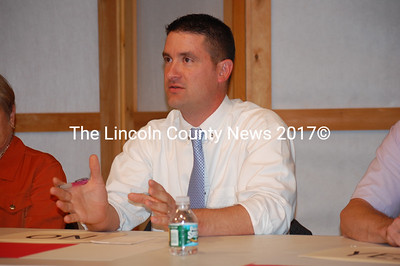 District 51 House candidate Joel Pitcher talks to the audience at a Sept. 25 candidate town hall. (J.W. Oliver photo)