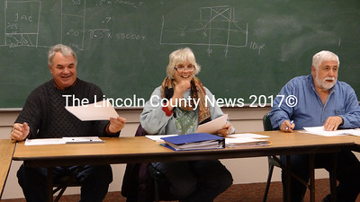 The Bremen Board of Selectmen: John 'Bo' Marsh, Chairman Wendy Pieh and Hank Nevins. (Shlomit Auciello photo)