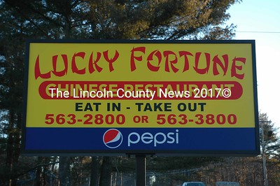 Lucky Fortune, a new Chinese restaurant, is now open at 422 Main St. in Damariscotta. (J.W. Oliver photo)