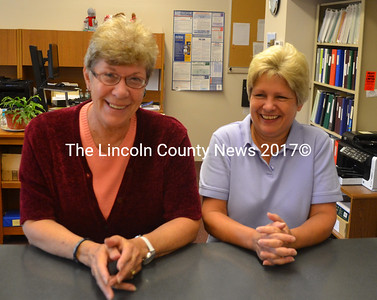 Bremen Town Clerk Martha Varsano (left) and Deputy Town Clerk Kelly Clancy will essentially switch positions starting Nov. 1. (D. Lobkowicz photo)