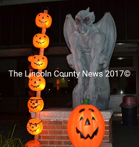 These pumpkins light up the entrance to Wiscasset's Haunted High School Friday, Oct. 25. (Kathy Onorato photo)