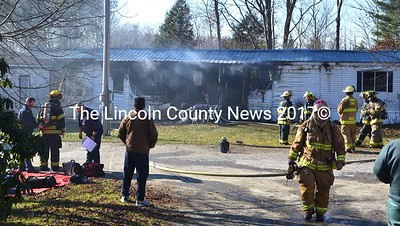 This mobile home at 50 Union Rd., in Waldoboro was a total loss after a fire the morning of Nov. 14, according to Waldoboro Fire Chief Paul Smeltzer. (D. Lobkowicz photo)