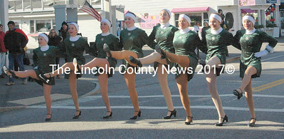 Renys' Rockets danced on Main Street to announce the arrival of Santa Claus Nov. 30. (Eleanor Cade Busby photo)