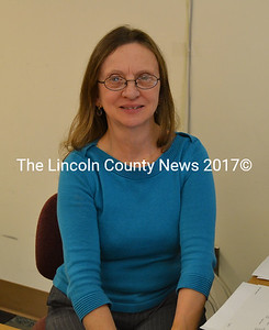 Wiscasset's long time employee Becky Applin, will be at her desk just a few more days at the town office before retiring, Friday, Dec. 6. (Charlotte Boynton photo)