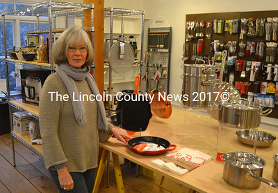 Gail Mongtgomery is the owner of The Well Tempered Kitchen, a kitchen goods store which moved back to Waldoboro this fall after a year and half in Camden. (D. Lobkowicz photo)