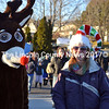Wiscasset Town Planner Misty Parker guides Rudolph around Wiscasset Dec. 7. (Kathy Onorato photo)