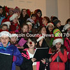 An enthusiastic group of Wiscasset Middle School students perform at Wiscasset's tree lighting Dec. 7. (Kathy Onorato photo)