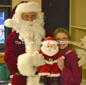 Frank Overlock was given a stuffed Santa on behalf of his family by his granddaughter, Quinn Overlock. (D. Lobkowicz photo)