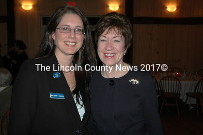State Rep. Deborah J. Sanderson, R-Chelsea, with U.S. Sen. Susan Collins at the Lincoln County Republicans Lincoln Day dinner March 8 at The 1812 Farm.  (J.W. Oliver photo)