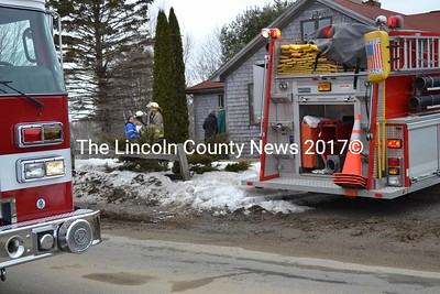 Waldoboro Fire Department personnel were called out on a report of visible smoke and possible structure fire on Finntown Road March 6. (K. Fletcher photo)