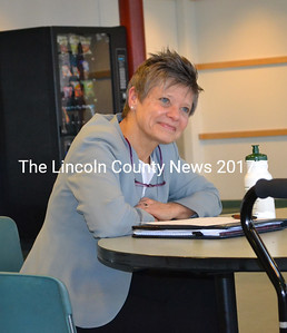 Anne Cass, a head of school candidate for Lincoln Academy. (Kim Fletcher photo)