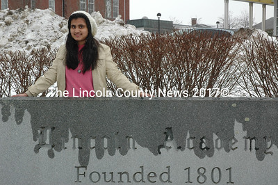 Lincoln Academy student Sammia Nasrin will graduate in June and return to her home in Lahore, Pakistan, after a year in Maine.  (J.W. Oliver photo)