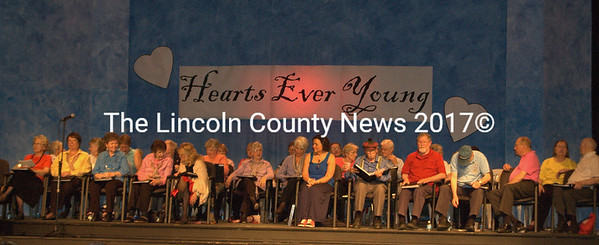 Fifty-two members of Hearts Ever Young entertained packed houses at the Lincoln Theater last weekend. (E. Busby photo)
