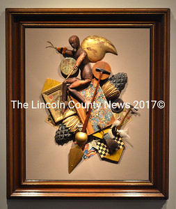 """The Collector,"" a mixed media assemblage by John Sideli. (D. Lobkowicz photo)"