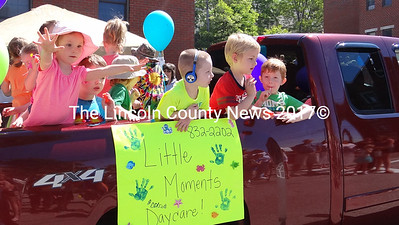 Children, on and off the floats, were a large part of the crowd at Waldoboro Day. (Shlomit Auciello photo)