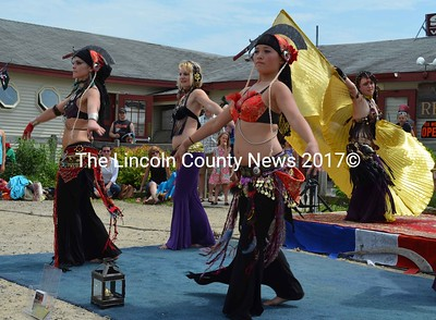 Natifa Shakti Bellydance group performs a Sword Dance. (E. Busby photo)