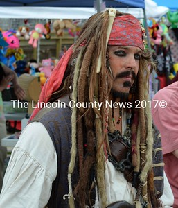 "A ""Pirates of the Caribbean"" Johnny Depp look-a-like. (Photo courtesy of E. Busby)"