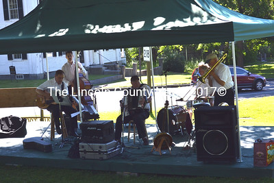 The Jazz Razcals open this year's Summerfest in Wiscasset. (Kathy Onorato photo)