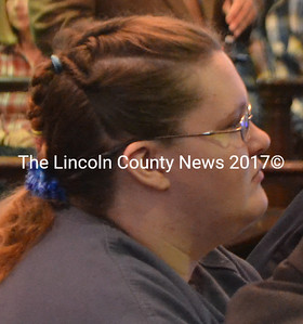 Arline Lawless at her sentencing July 26. (D. Lobkowicz photo)