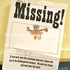 "One of the many ""missing"" posters hung in the halls of Miller School as part of the kindergarteners' search for Gingy the Gingerbread Man. (D. Lobkowicz photo)"