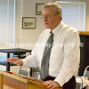 Robert Young, interim executive director for the CLC Y, gave an update to the Waldoboro Board of Selectmen on the progress of the Waldoboro Y project July 22. (D. Lobkowicz photo)