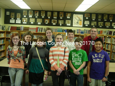 Wiscasset Middle School students of the month for November are (from left): Julia Murphy, Joanna Collins, Lily Souza, Leah Potter, Alicia Long, Zach Mank, CJ Roberts, Kobe Carrier, and Joshua Dualan.
