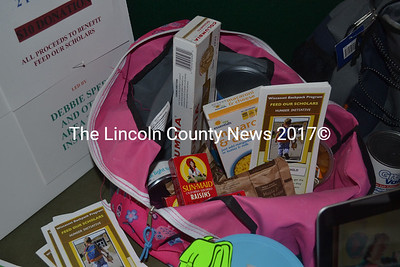 Last year over 40 Wiscasset children were able to take home a backpack  full of food every weekend, like this one, to help with food insecurities.  (Kathy Onorato photo)