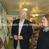 Seawicks Candle Company co-owner Cara Gaffney guides U.S. Rep. Mike Michaud on a tour of the company's Damariscotta shop April 14. (J.W. Oliver photo)