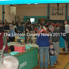 The gym was full of locals ready for Nobleboro Nonsence fun, April 4. (E. Busby photo)