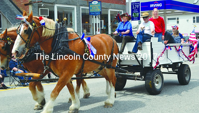 A horse-drawn wagon at the Twin Villages Memorial Day parade. (Tim Badgley photo)