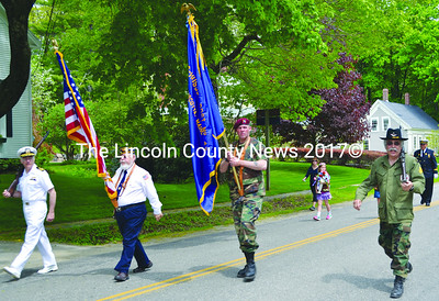 The Twin Villages Memorial Day parade steps off in Newcastle. (Tim Badgley photo)