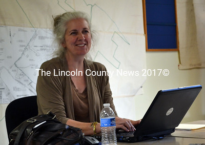 The Edgecomb Board of Selectmen's recording secretary Jennifer Elkins, will leave her position this fall to accept a full-time job. (Kathy Onorato photo)