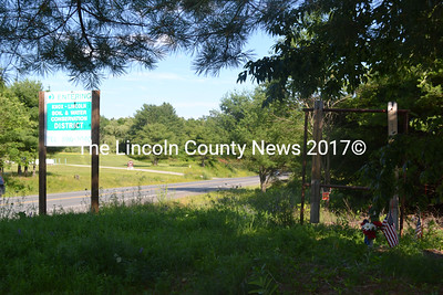 The site of the Edgecomb Cemetery on Route 17 in Coopers Mills has begun to be cleared and will once again be maintained. The Knox-Lincoln Soil & Water Conservations District has moved its sign off the cemetery plot closer to the road. (Kathy Onorato photo)