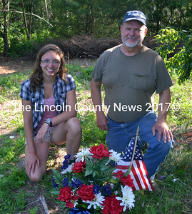 Katherine and Phil Newcombe of Whitefield have dedicated themselves to unfolding the history of the families buried in the Edgecomb Cemetery.  (Kathy Onorato photo)
