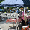 The On Common Cafe was a busy place, serving hamburgers, hot dogs, and drinks to the many guests at Summerfest July 26. (Charlotte Boynton photo)