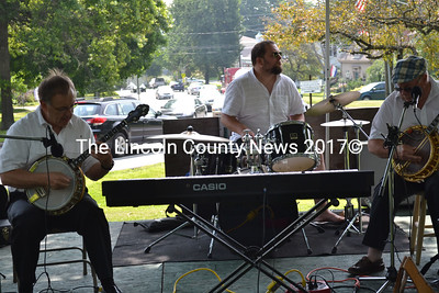 The All Brass Jazz Band entertains the crowd at Summerfest in Wiscasset on Saturday, July 26.(Charlotte Boynton photo)