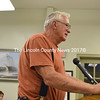 Wiscasset American Legion Cmdr. William Cossette speaks in support of keeping nonprofit organization bottle bins at Wiscasset Transfer Station during the Wiscasset Board of Selectmen's meeting on Tuesday, Aug. 5. The selectmen will discuss adopting a bottle-bin policy at their Sept. 2 meeting. (Charlotte Boynton photo)