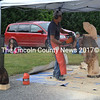 Dan Burns creates an owl during his chain saw art demonstration at Whitefield Community Day. (Kathy Onorato photo)