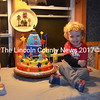 "Noah Irons celebrates his third birthday at the home of his grandparents, Cindy and William Cressey, of Woolwich, Friday, Oct. 17. Noah is the son of Adrienne and Timothy Irons, of Newcastle, and the grandson of the late John Bowers and Lisa Bowers, of Damariscotta. William Cressey made the ""rocket-ship cake"" at Noah's request. Cressey, a carpenter by trade, makes custom cakes for his grandchildren. (Photo courtesy Adrienne Irons)"