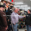 Dirigo Marketing was at Reny's taping a commercial last Saturday at 6 a.m. during the Damariscotta Early Bird sale, (E. Busby photo)