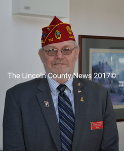 John Hargereaves, from the National Executive Committee of Maine, gave a small speech during a Veteran's Day lunch at Schooner Cove assisted living facility, Nov. 11. (Michelle Switzer photo)