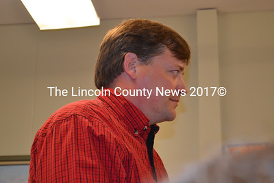 Wiscasset Road Commissioner Doug Fowler presents options for the town to replace a plow truck at the Wiscasset Board of Selectmen meeting Tuesday, Nov. 18. (Charlotte Boynton photo)