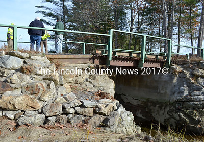 Bremen town officials met with an engineer from the Department of Transportation Nov. 13 to discuss the status and replacement or repair options for the Heath Road bridge. (D. Lobkowicz photo)