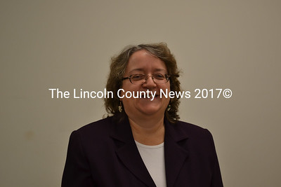 Deborah Willette at the Whitefield Board of Selectmen's meeting Tuesday, Dec. 16.  The selectmen voted unanimously to hire Willette as their new tax collector. (Abigail Adams photo)