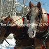 Belgians Bill (left) and Bob, of Alna, await passengers for a wagon ride at the Thompson Ice House in South Bristol, Feb. 16. Linda Verney, also of Alna, owns the horses. (J.W. Oliver photo)