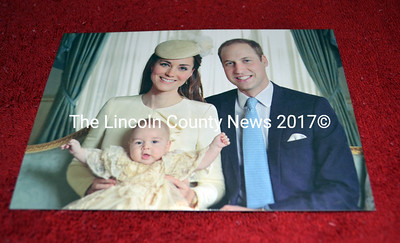 A photo sent to Frances Miller, of Whitefield, shows Princess Kate and Prince William with their new son Prince George. (Kathy Onorato photo)