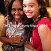Sienna Mazone with First Lady Michelle Obama during the Kids' State Dinner at the Whitehouse.  (Photo courtesy Kimberly Mazone)